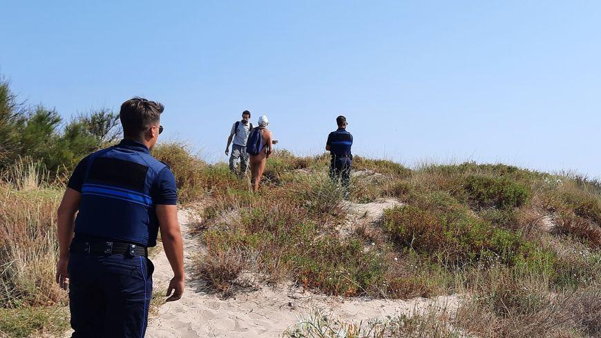 Naturiste en infraction entre Marseillan-Plage et le Cap d'Agde