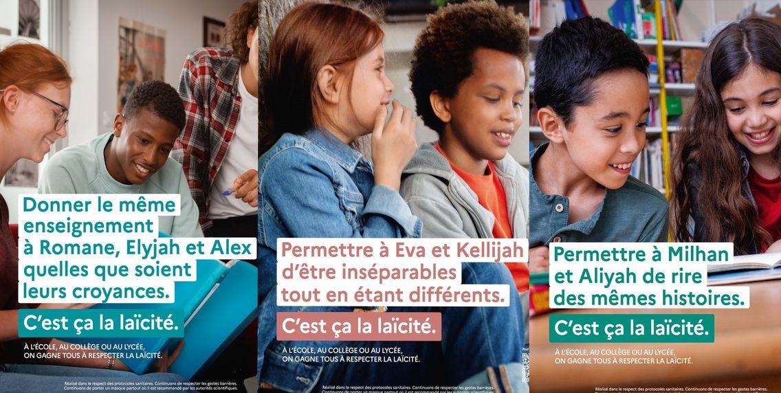 La campagne de l'Education nationale publiée sur son site internet.