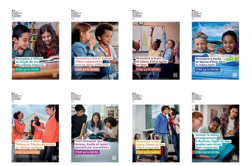 """C'est ça la laïcité"""" : une campagne du ministère de l'Éducation nationale  fait débat sur les réseaux sociaux"""