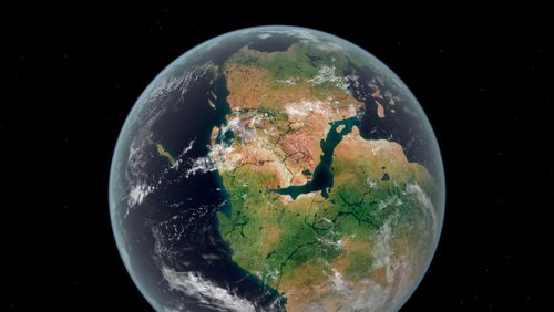 Les continents se sont formés par impulsion et non pas de façon continue