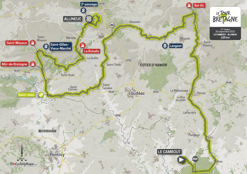 L'étape 1 du Tour de Bretagne.