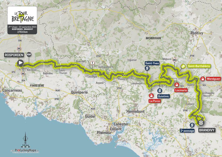 L'étape 3 du Tour de Bretagne.