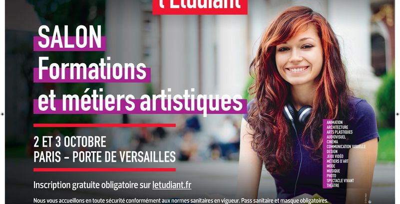 Mouv' te donne rendez-vous les 2 et 3 octobre au salon de l'Etudiant des formations et métiers artistique !