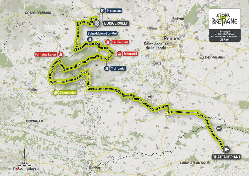 L'étape 5 du Tour de Bretagne.