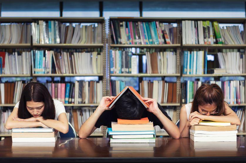En bibliothèque