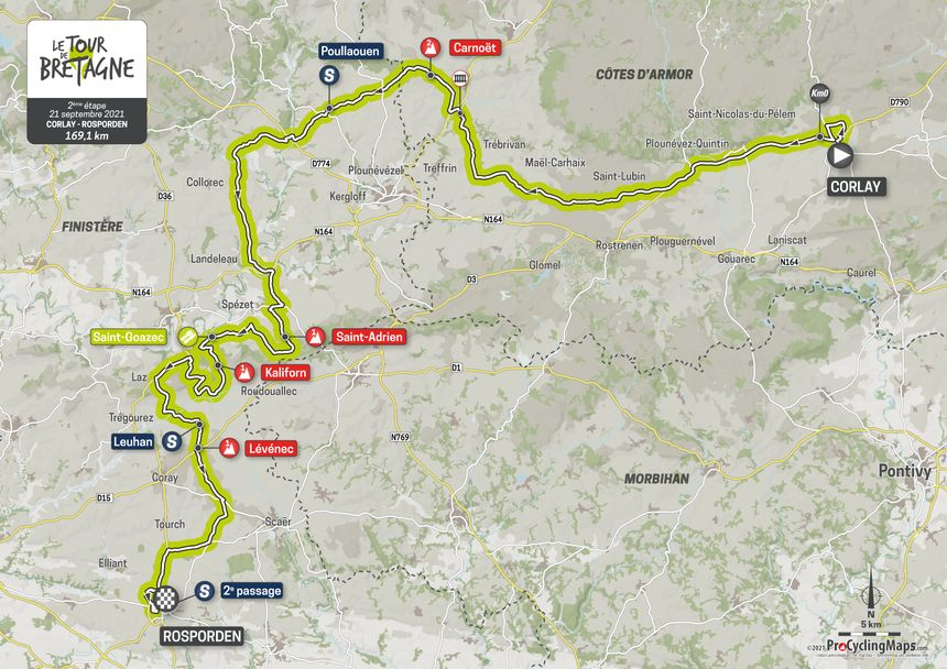 2e étape du Tour de Bretagne.