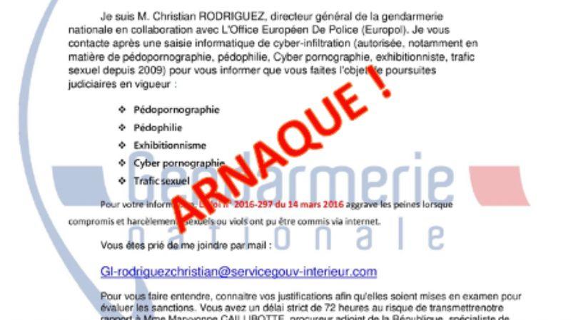 Attention arnaque : la gendarmerie du Gard alerte sur des mails usurpant son identité