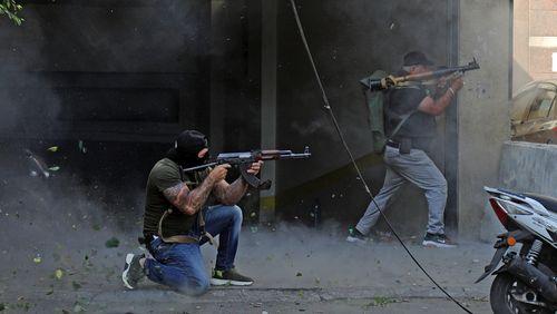 Scènes de guerre à Beyrouth